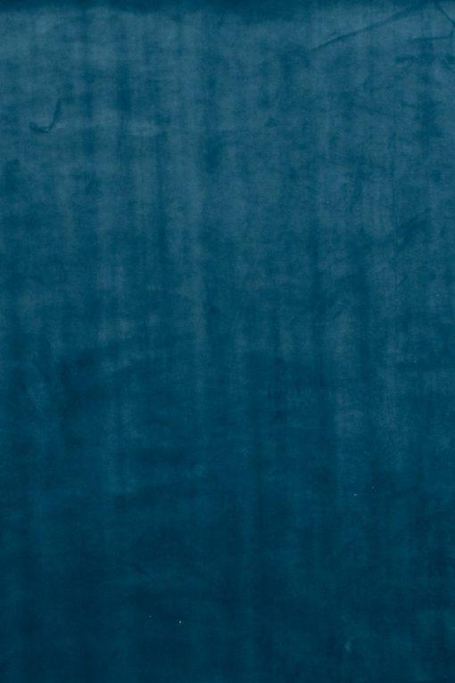 Stof Velvet Plain Petrolblauw 10 - Decoratiestoffen