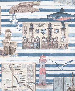 Stof Ottoman prints 176 - Gordijnstoffen -  Decoratiestoffen
