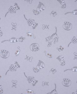 Stof Linnenlook dieren 013 - Gordijnstoffen -  Decoratiestoffen