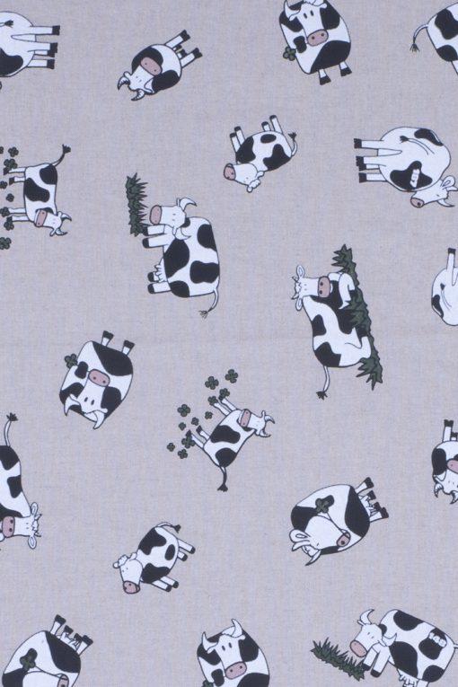 Stof Linnenlook dieren 006 - Gordijnstoffen -  Decoratiestoffen