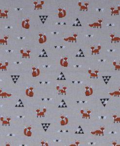Stof Linnenlook dieren 018 - Gordijnstoffen -  Decoratiestoffen