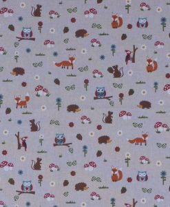 Stof Linnenlook dieren 020 - Gordijnstoffen -  Decoratiestoffen
