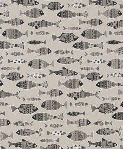 Stof Linnenlook dieren 047 - Gordijnstoffen -  Decoratiestoffen