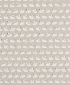 Stof Linnenlook dieren 045 - Gordijnstoffen -  Decoratiestoffen