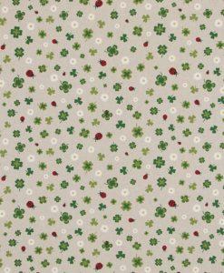 Stof Linnenlook Motief 138 - Gordijnstoffen -  Decoratiestoffen