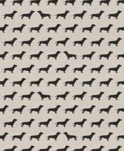 Stof Linnenlook dieren 055 - Gordijnstoffen -  Decoratiestoffen