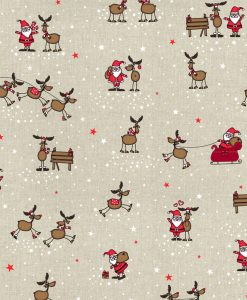 Stof Linnenlook Kerst 038 - Decoratiestoffen