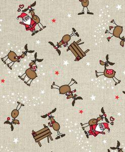 Stof Linnenlook Kerst 039 - Decoratiestoffen