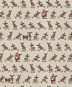 Stof Linnenlook Kerst 040 - Decoratiestoffen