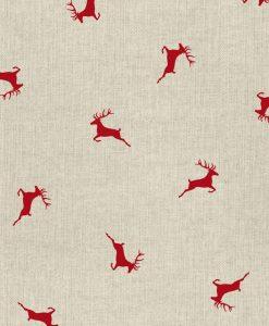 Stof Linnenlook Kerst 014 - Decoratiestoffen
