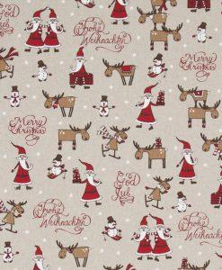 Stof Linnenlook Kerst 020 - Decoratiestoffen
