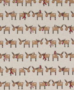 Stof Linnenlook Kerst 021 - Decoratiestoffen