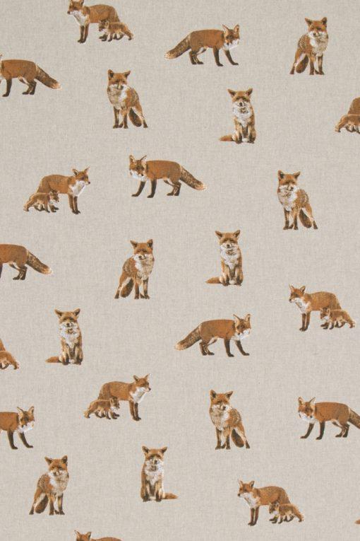 Stof Linnenlook dieren 065 - Gordijnstoffen -  Decoratiestoffen