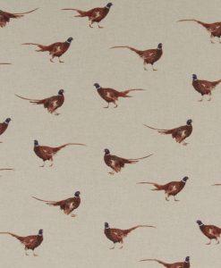 Stof Linnenlook dieren 076 - Gordijnstoffen - Decoratiestoffen