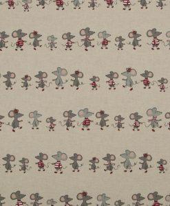 Stof Linnenlook dieren 079 - Gordijnstoffen - Decoratiestoffen