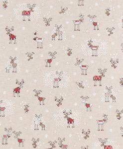 Stof Linnenlook Kerst 137 - Decoratiestoffen