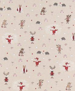 Stof Linnenlook Kerst 142 - Decoratiestoffen