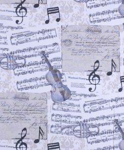 Stof Ottoman prints 101 - Gordijnstoffen -  Decoratiestoffen
