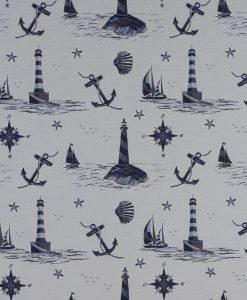Stof Dubbeldoek nautic 002 - Gordijnstoffen -  Decoratiestoffen