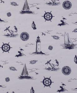 Stof Dubbeldoek nautic 001 - Gordijnstoffen -  Decoratiestoffen
