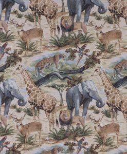 Stof Gobelin dieren 018 - Decoratiestoffen -  Gordijnstoffen -  Meubelstoffen