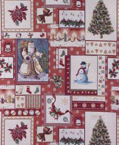 Stof Gobelin Kerst 019 - Decoratiestoffen -  Gordijnstoffen -  Meubelstoffen
