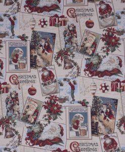 Stof Gobelin Kerst 035 - Decoratiestoffen -  Gordijnstoffen -  Meubelstoffen