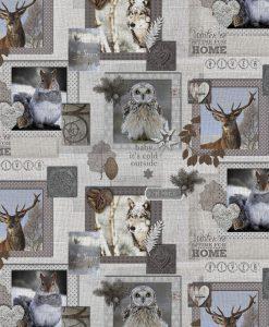 Stof Gobelin dieren 007 - Decoratiestoffen -  Gordijnstoffen -  Meubelstoffen