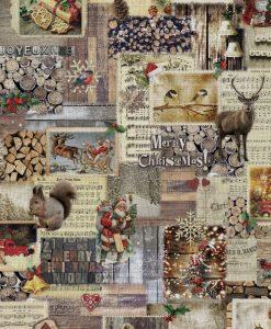 Stof Gobelin Kerst 001 - Decoratiestoffen -  Gordijnstoffen -  Meubelstoffen