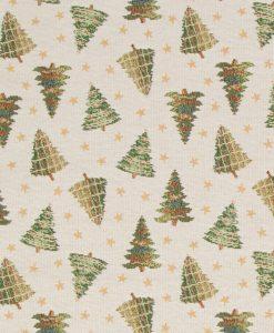 Stof Gobelin Kerst 021 - Decoratiestoffen -  Gordijnstoffen -  Meubelstoffen