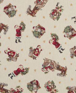Stof Gobelin Kerst 022 - Decoratiestoffen -  Gordijnstoffen -  Meubelstoffen